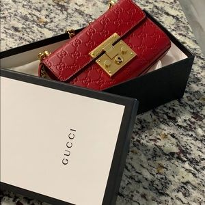 Authentic Gucci monogram leather bag